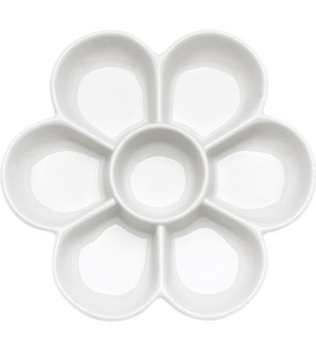 Paleta de mezclas de porcelana 7 huecos 19 cm - AM-575229