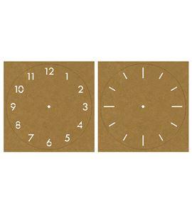 Plantilla de estarcido esfera reloj números papel kraft 25 cm - 45140000_PF
