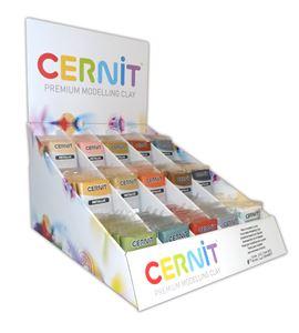 Expositor arcilla polimérica cernit metallic 15 colores x 6 unidades x 56gr - EMB718000008
