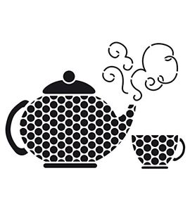 Plantilla / stencil a4 - tea time - 15050003