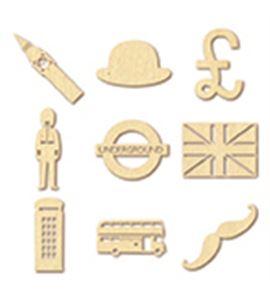 Mini siluetas de madera - london - 14001573